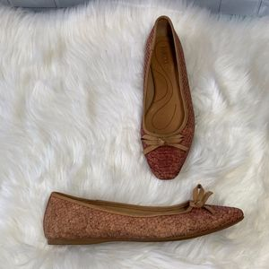 Born Carri Snake Cork Leather Ballet Flat Size 7.5